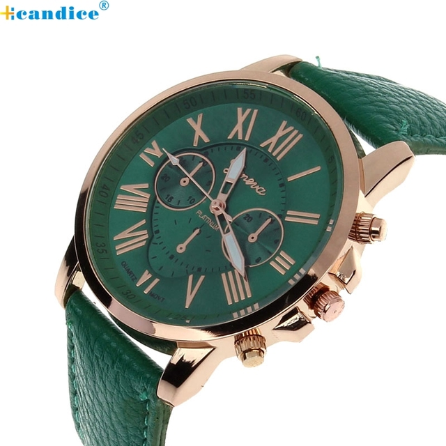 Retro Design Leather Band Analog Alloy Quartz Watches Women Top Brand Luxury Dig