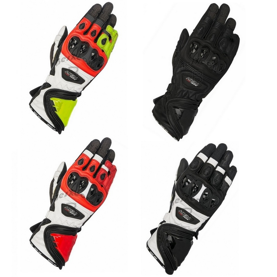 New 4 Colors 100 Genuine Leather Super Tech Motorcycle Long Gloves Racing Driving GP PRO Motorbike