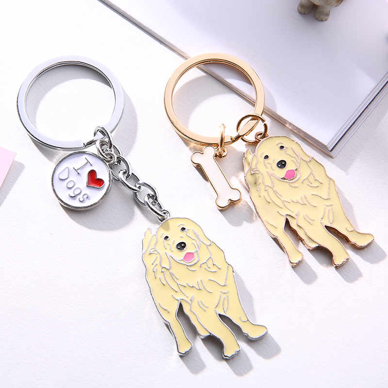 Golden Retriever PET Key ring