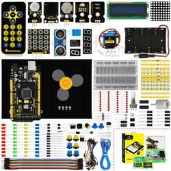 Keyesstudio Starter Kit (MEGA 2560 R3) para Arduino proyecto con caja de regalo + Manual de usuario + 1602LCD + chasis + PDF (en línea) + 35 proyecto + vídeo