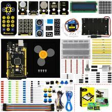 Keyestudio Maker başlangıç kiti (MEGA 2560 R3) arduino projesi için W/hediye kutusu + kullanım kılavuzu + 1602LCD + şasi + PDF (çevrimiçi) + 35 proje + Video