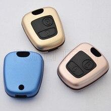 20 шт./лот Алюминиевый автомобиль кнопочный пульт заготовки случай брелоки с винты без логотипа для peugeot 307 407
