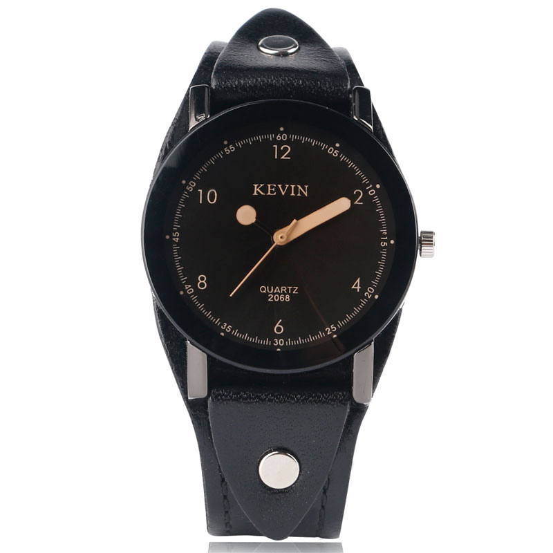 KEVIN Matches Analog Punk Fashion Women Simple Men Special Design Wrist Watch Quartz Rock Cool Leather Band Dress Strap Sport mjartoria 2017 men punk skull watch student male cool leather belt sport quartz watch wrist watch quartzwatch punk rock clock