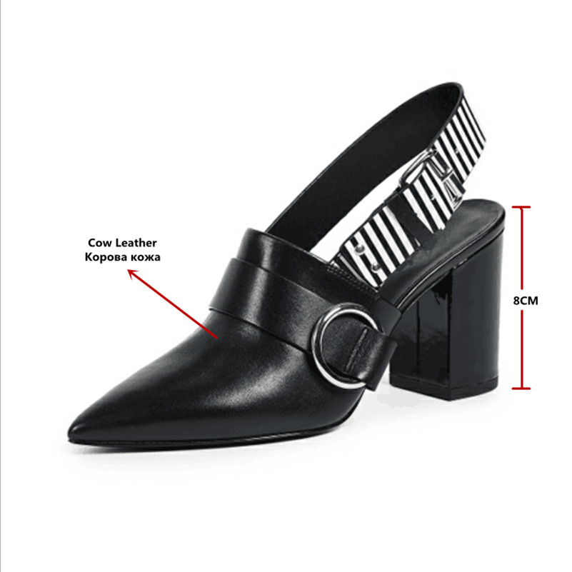 FEDONAS Women Pump Sexy Close Toe Spring Summer Genuine Leather Wedding Shoes Women High Heels 8CM Sandals Femme Sexy Pumps-in High Heels from Shoes    2