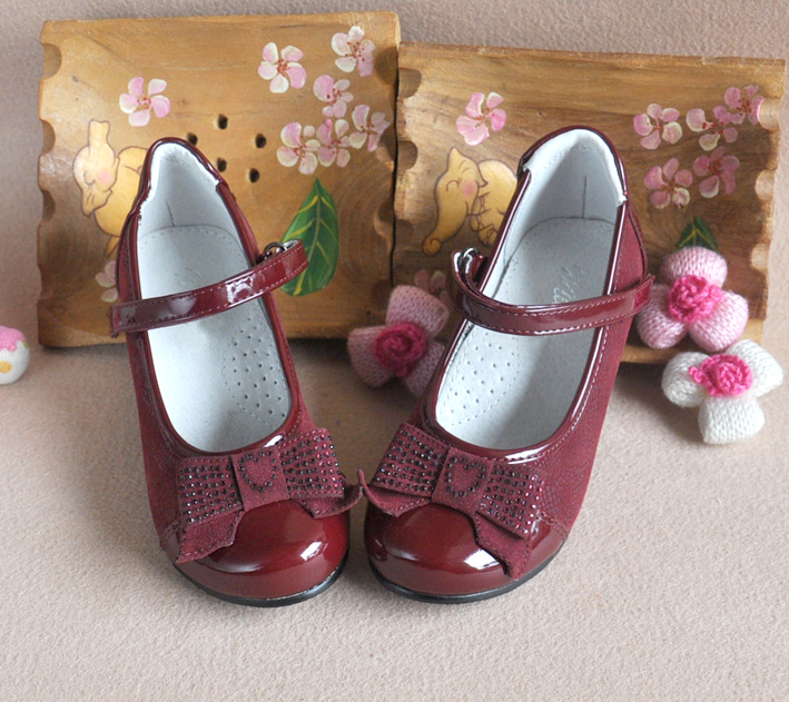 2018 super quality kid girl Small heels Orthopedic Genuine Leather Children arch support shoes Princess dance shoes