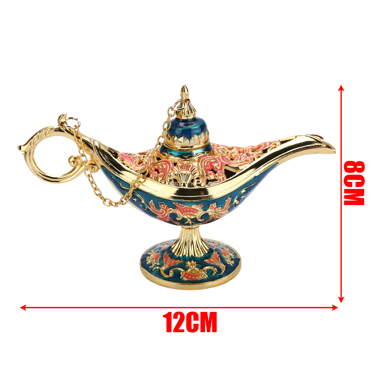 Traditional Aladdin Lamp Magic Lamp Retro Censer Panto Tea Pot Genie Oil Lamp Zinc Alloy For Home Decor Ornaments