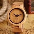 Bamboo Creative Watches Men Women Modern Cattle Bull Pattern  Head Handmade Leather Band Nature Wood Wristwatches Male Clock