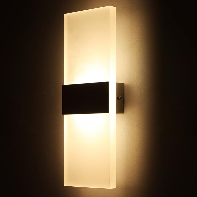 Modern Led Wall Lamp For Kitchen Restaurant Living Bedroom Room Lights Bathroom Light Indoor