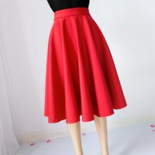 Paige Skirts Space cotton Autumn Winter Grown Place Umbrella Skirt Retro Waisted Body Skirt New Europe