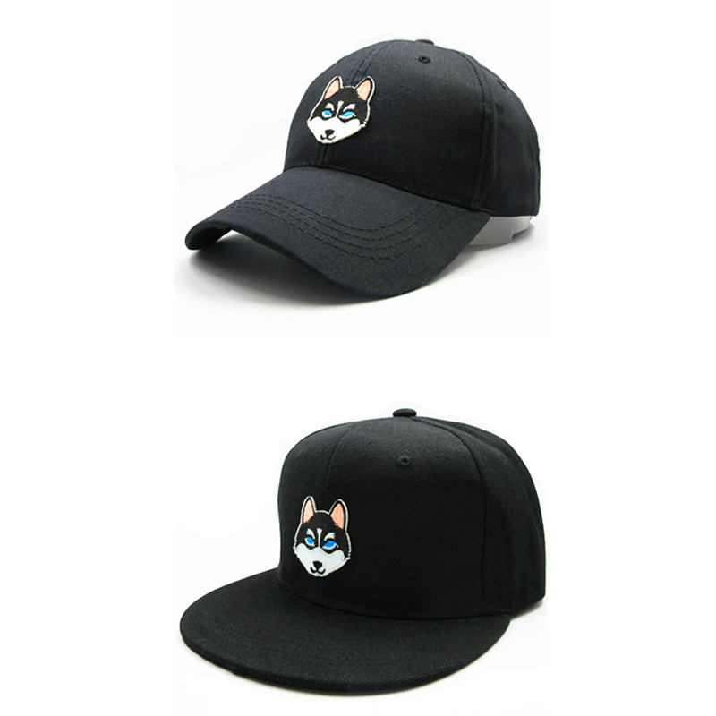 Faithful Ldslyjr Cartoon Wolf Dog Embroidery Cotton Baseball Cap Hip-hop Cap Adjustable Snapback Hats For Kids And Adult Size 156