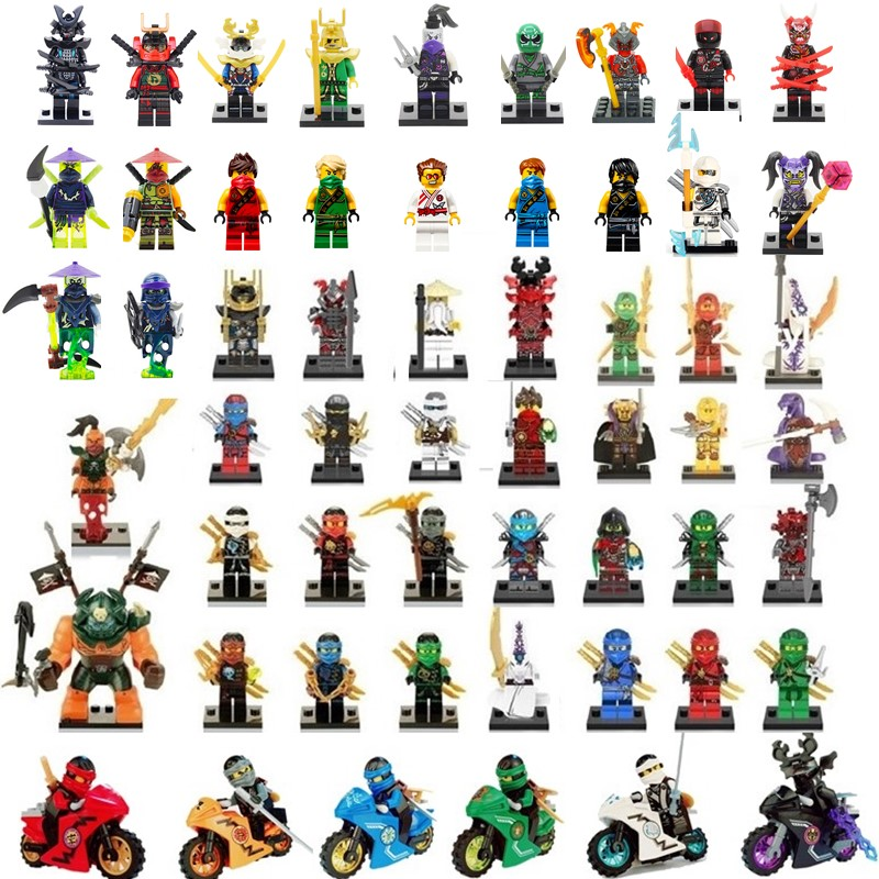 Compatible Ninjago Sets NINJA Heroes Kai Jay Cole Zane Nya Lloyd With Weapons Action Christmas Gifts Toys For Children
