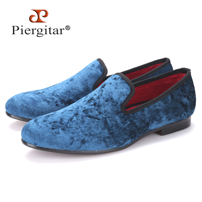 29dfbd6d136b US $88.0 |Pierigitar 2017 new Five color men new velvet flats shoes Banquet  and Prom men dress shoes Fashion smoking slippers male loafers-in Men's ...
