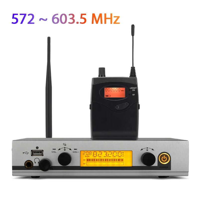 YUEPU RU-530 беспроводной монитор в ухо система беспроводной мониторинг Профессиональный одноканальный передатчик персональная сценическая производительность - Цвет: 572 to 603MHz