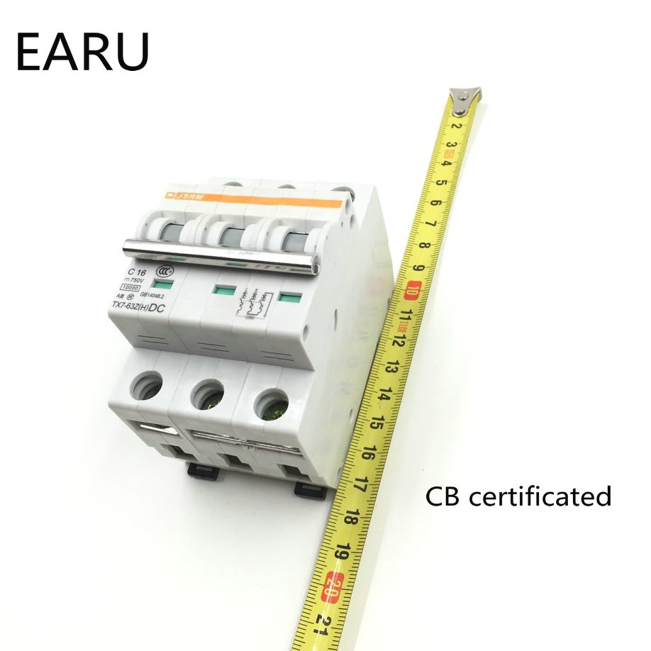 3p 3a Dc 750v Circuit Breaker Mcb For Pv Solar Energy Photovoltaic System Battery C Curve Cb Certificated Din Rail Mounted In Breakers From Home