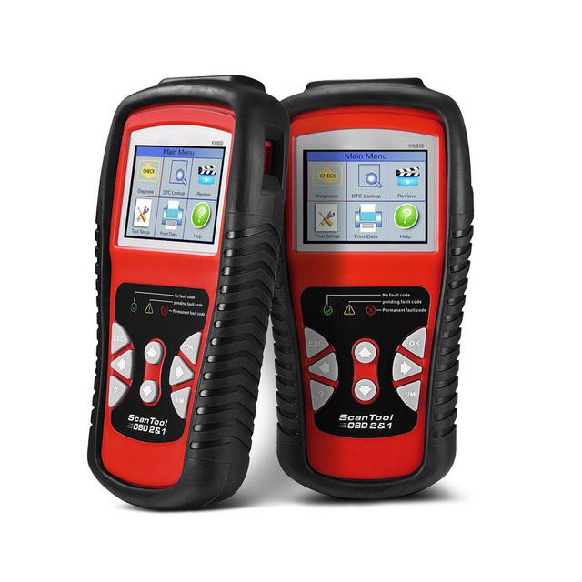 Portable Car Diagnostic Tools KW830 OBDII EOBD Auto Scanner TFT Color Display 10 OBDII Test Modes Car Vehicle Diagnostic Tool