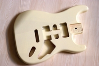 beige color ST electric guitar body basswood ST guitar body