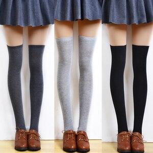 Image 5 - 新しい秋のファッションセクシーなレースストッキング暖かい腿の高ストッキングオーバーニーソックスストッキングガールズレディース女性暖かいタイツ