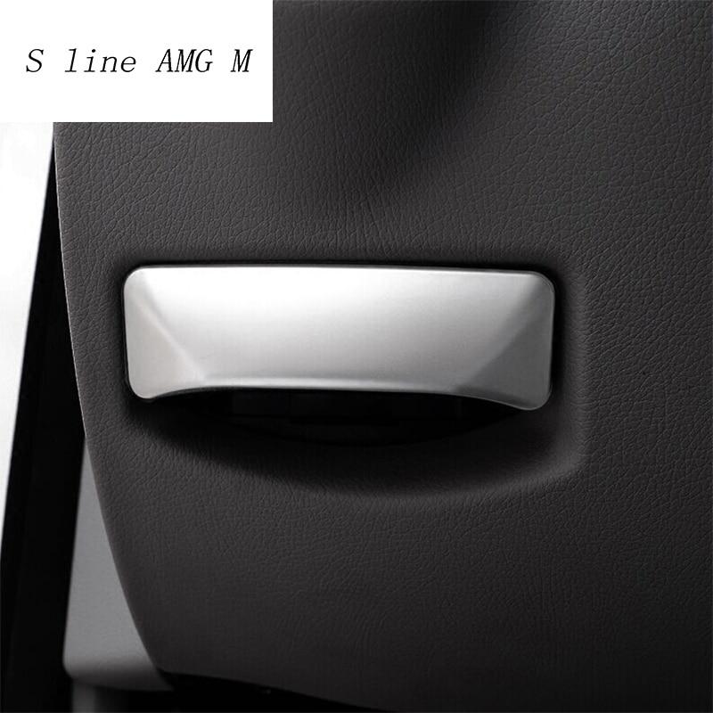 Estilo do carro A pé de liberação do freio interruptor de decoração de aço inoxidável adesivos de carro para Mercedes Benz classe E W212 W204 Classe C GLK