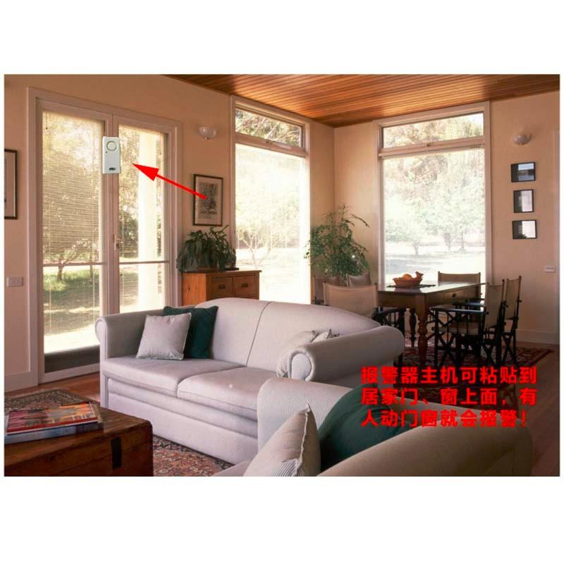 Anti Theft Vibration Shock Sensor Alarm Wireless Door Window Car Motorcycle House Safety Home Security Alarm System 8