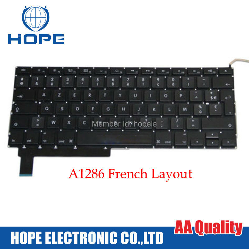 Original French Keyboard For Apple Macbook Pro 15'' A1286 France FR With Backlight 2009 2010 2011 2012