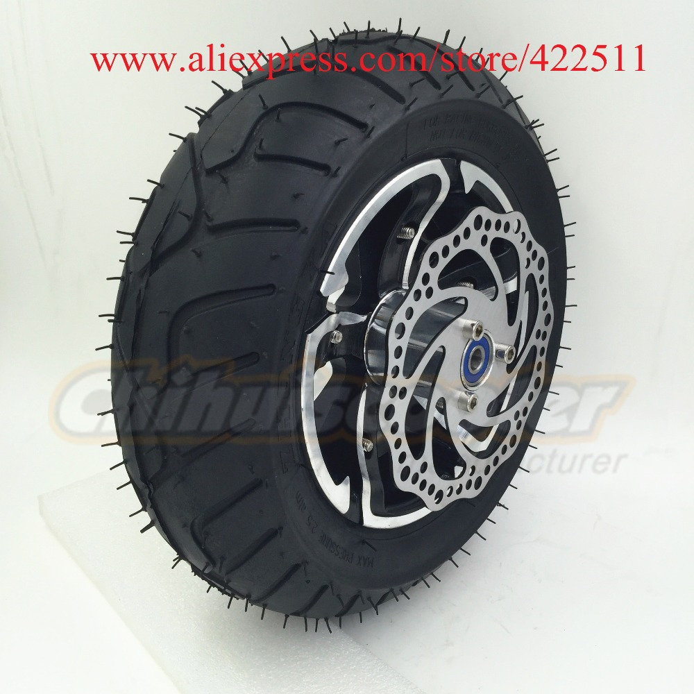 12(D300mm) Electric Scooter Rear Wheels with 90/65-6.5 On-road Tyre/12 New Scooter Rear Wheel with Brake Disc(Scooter Parts) ...