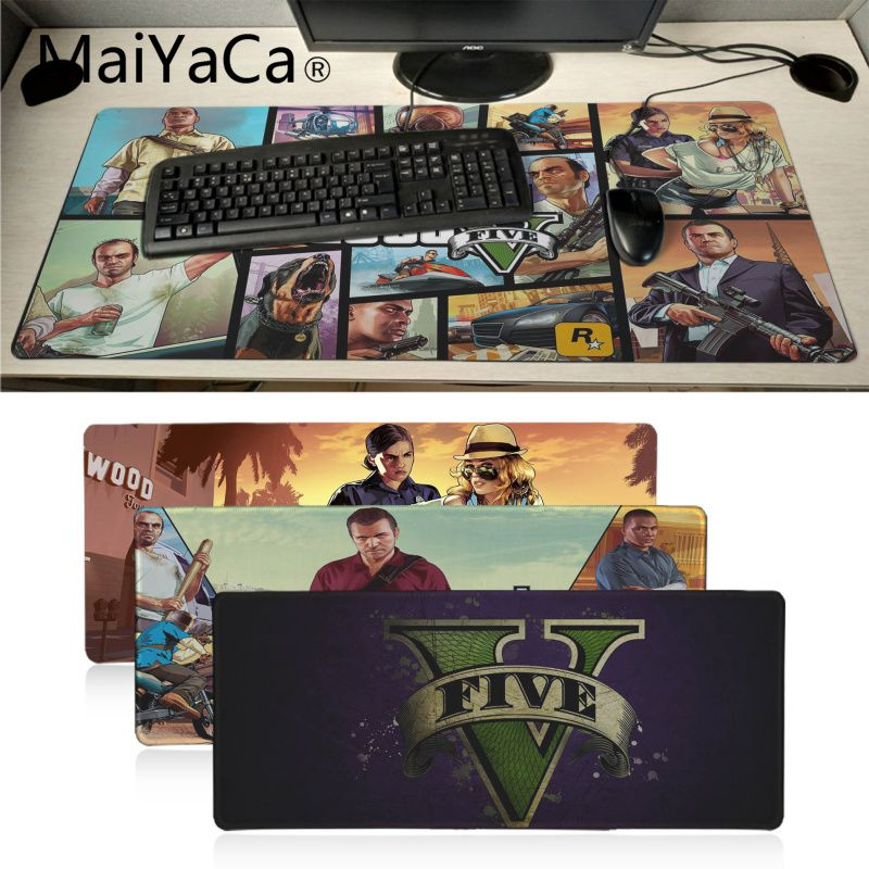 MaiYaCa New Arrivals GTA V Gamer Play Mats Mousepad Large Gaming Mouse Pad Anti-slip Perfect Locking PC Computer Desk Mat