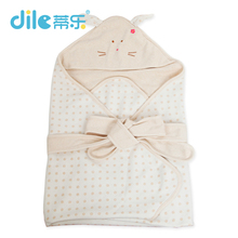 Dile winter Infant swaddle wrap Cotton Baby swaddling Blanket Kids Sleeping Bag Receiving Blankets with hooded