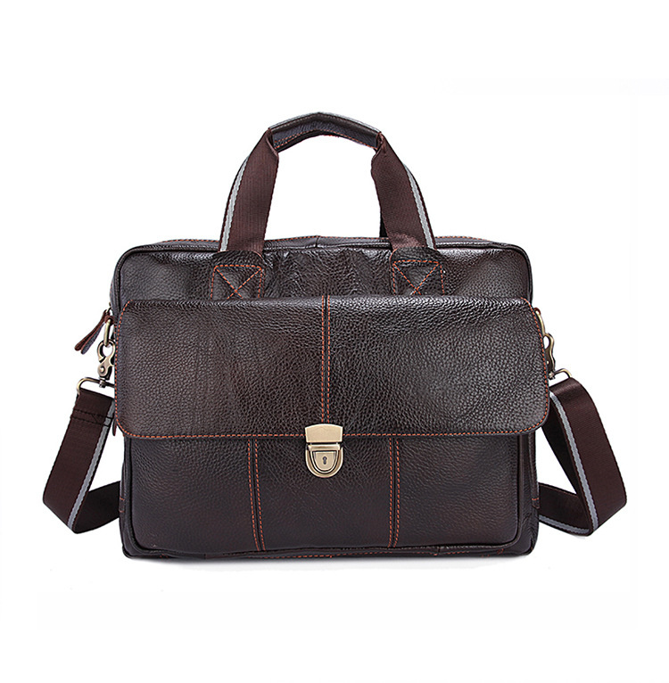 Men Briefcase Shoulder Messenger Crossbody Bag Fashion Travel Business Leather Laptop Casual Man Bags Office Large Capacity Gift