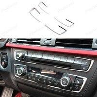 For BMW 3 4 Series F30 F31 F32 F34 F36 316 318 320 420 2013 2015 Dashboard Center Console U Shape Cover Frame + 4 pcs Trim