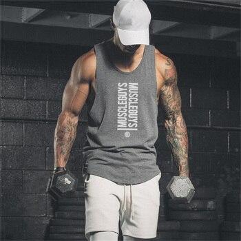 1c685a78949d10 Brand Nieuwe Sportscholen Tank Top Mens Bodybuilding Mouwloos shirt Casual  Shirts mannen Stringer Fitness Singlets Spier Tanktop