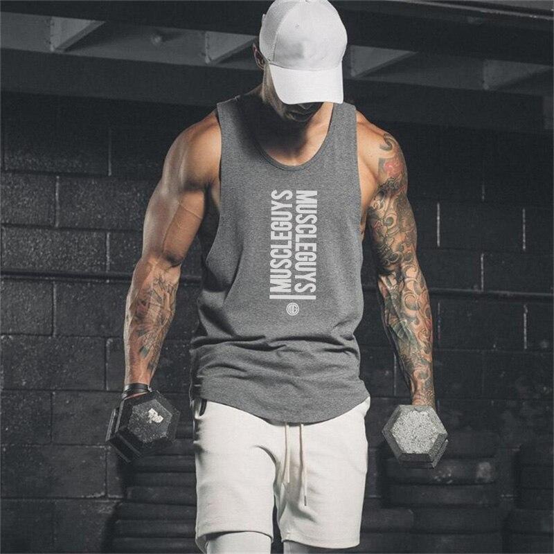 Marke Neue Turnhallen Tank Top Herren Bodybuilding Ärmelloses Shirt Casual Shirts Männer Stringer Fitness Singuletts Muscle Tanktop Diversifiziert In Der Verpackung