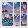 Japanese anime your name girl&boy (1) Design hard White Skin Case Cover for Apple iPhone 7 6 6s Plus SE 5c 5 5s 4 4s