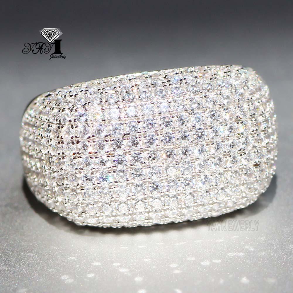 100% Wahr Yayi Schmuck Prinzessin Cut 4,9 Ct Weiß Zirkon Silber Farbe Verlobungsringe Hochzeit Herz Ringe Mädchen Partei Ringe Geschenke