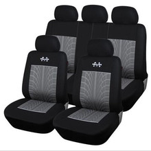 High-quality car seat covers, racing flag pattern embroidery universal cushion