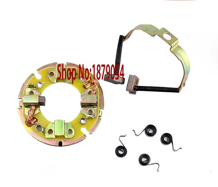 CG125 Starter de carbono para motor, soporte de cepillo para motocicleta Honda CG 125 QJ125, piezas de motor de arranque