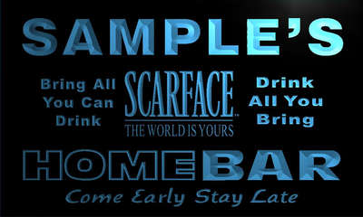 r033-tm Scarface Personalized Custom Name Home Bar Pub Gift Light Neon Sign Wholesale Dropshipping On/Off Switch 7 Colors DHL