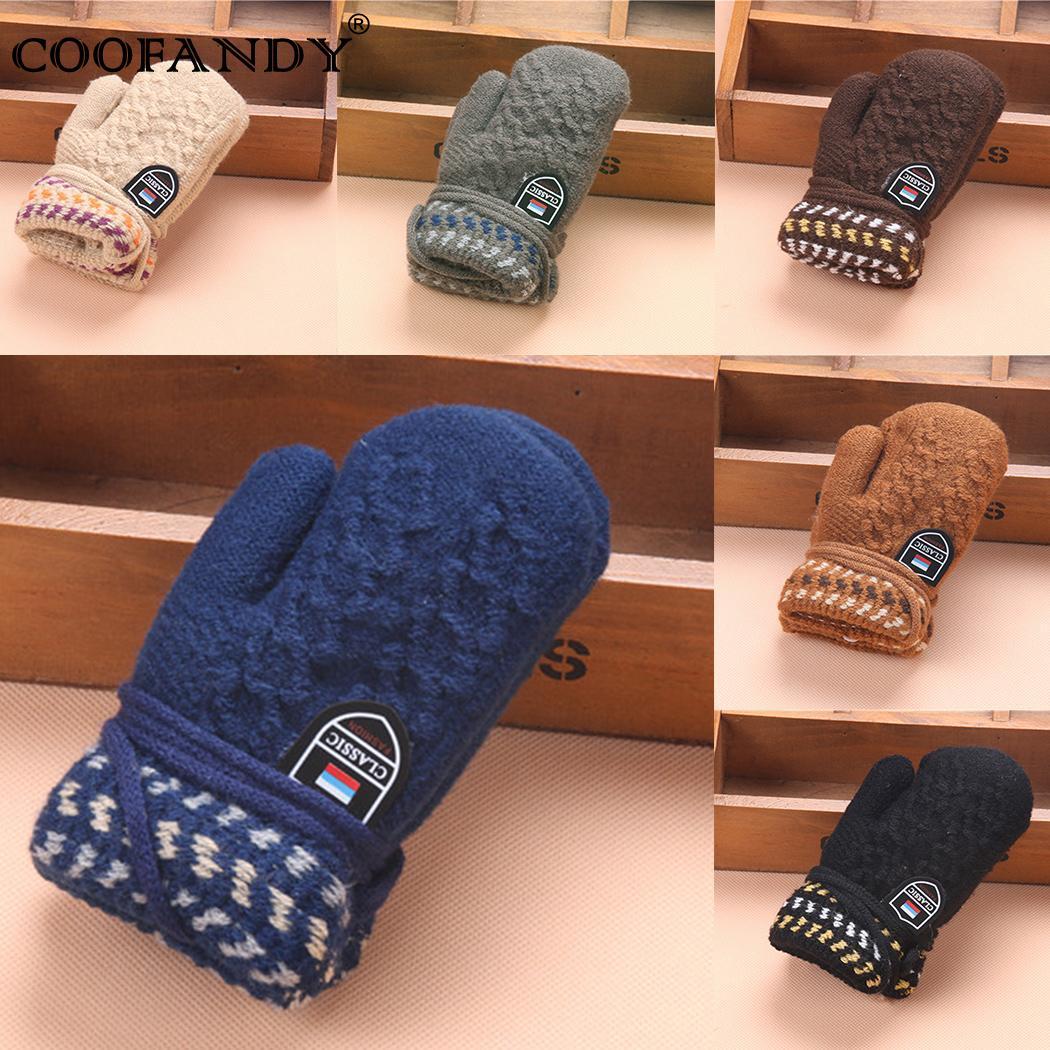 Hands Halter Gloves Cute Childrens Haling Kids Warm Winter Clothes Accessories