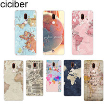ciciber Travel Map For Nokia 8 7 7.1 6 6.1 5 5.1 3 3.1 2 2.1 1 Plus 9 PureView Soft Clear TPU X7 X6 X5 X3 Phone Cases
