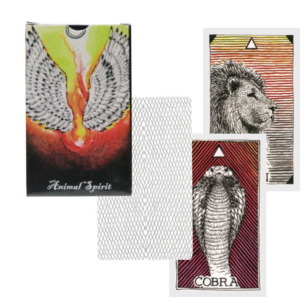 2019 Animals Expression Spirit Deck, 63 Cards, English Guidance Mysterious Fortune Animal Tarot Cards Dragon Phoenix Lion