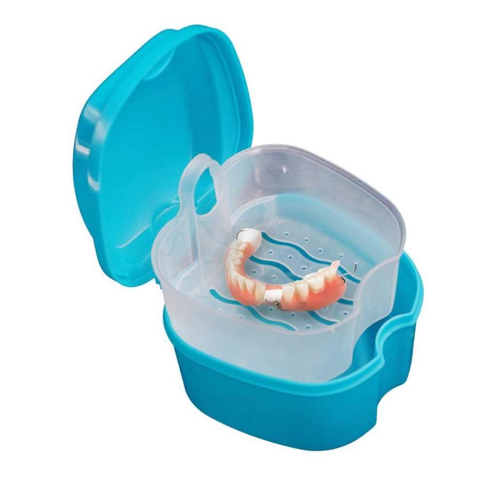 ขนาดพกพาแพทย์ทันตกรรมฟันปลอมกล่องเก็บทันตกรรมสุขภาพCare Organizerพร้อมแขวนคอนเทนเนอร์