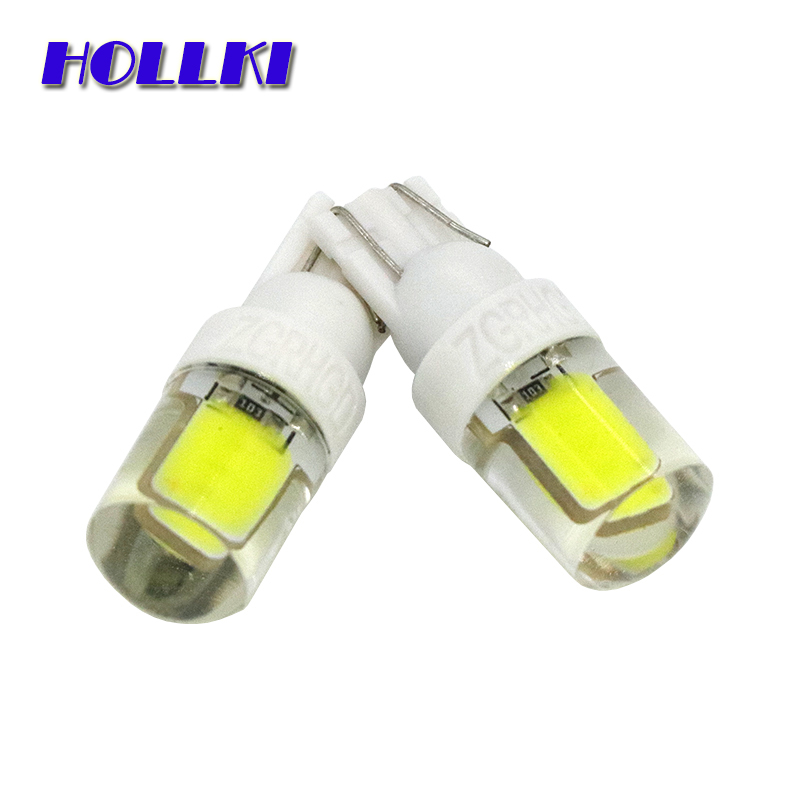 4pcs W5W LED T10 Silicone Case Chips COB Car lamps 168 194 Turn Signal License Plate Light Trunk Lamp Clearance Lights 12V top quality new t10 7 5w w5w 5smd cob car led lamp signal light width license plate bulb feb13