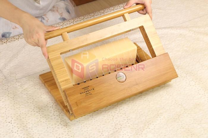 Wooden Handmade Wire Soap Loaf Mold Cutting Adjustable Cutter Soap Slicers Kit Set