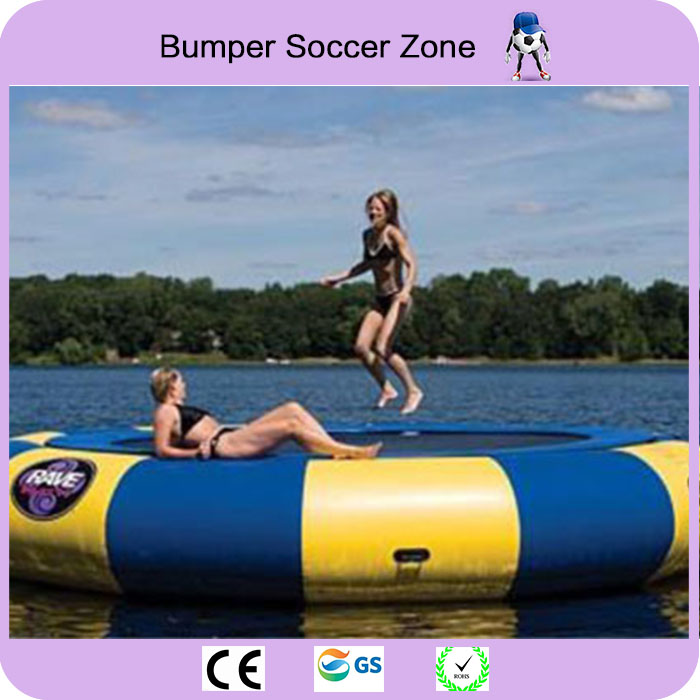 Free Shipping 4m Inflatable Water Trampoline Water Jumping Bed Jumping Trampoline Inflatable Aqua Trampoline funny summer inflatable water games inflatable bounce water slide with stairs and blowers