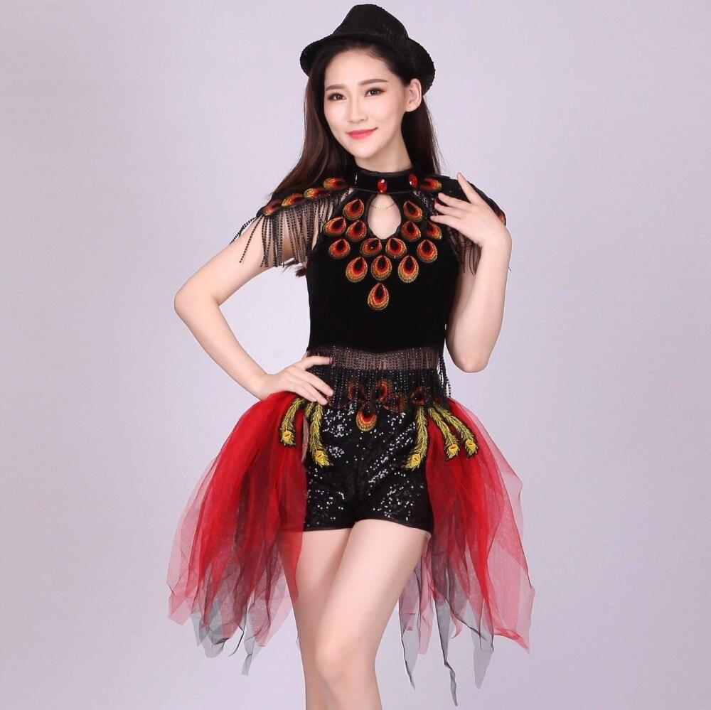 women lady sequins dance dress,contemporary dance dress, Nightclub Tuxedo, Jazz Dance Costumes,Chinese modern dance costume