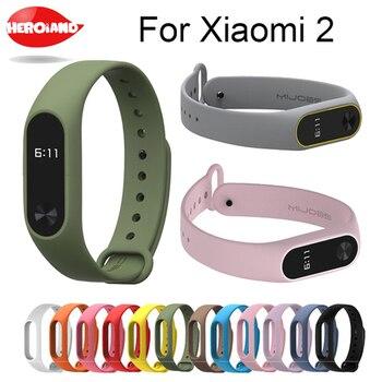 Bracelet for xiaomi mi band 2 Strap Silicone Strap mi band 2 Bracelet Wristbands Band wrist Strap for xiaomi mi band2 smartwatch