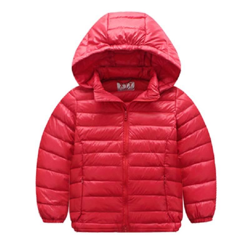 Kızlar için çocuk Parkas kış 2016 çocuk aşağı & parkas palto katı coat Noel ceket boys giyim hoodies kontrast renk
