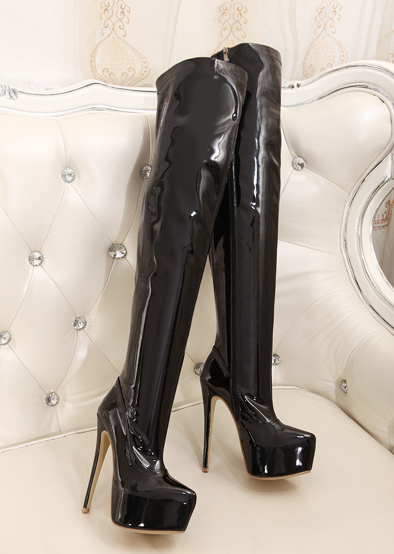 high quality extreme high heel 15cm heels overknee boots. Black Bedroom Furniture Sets. Home Design Ideas
