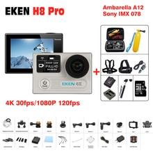 Оригинал экен H8 Pro действий камеры 1080 P/120fps 4 К 30fps pro водонепроницаемый H8Pro Ambarella A12 мини cam велосипед видео перейдите спортивные камера