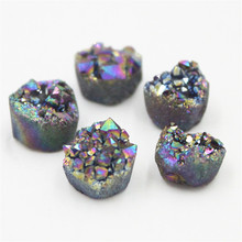 1PC DIY Earrings Ring Accessories Stone Material Natural Agate Crystal Crystals Bare 10mm