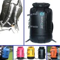 30L Kayaking Fishing Hiking Waterproof Dry Bag Heavy Duty Roll Top Closure Gear Backpack Sailing Drifting Large Capacity Bag